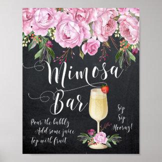 Mimosen-Bar, welches die Zeichen-Flieder mit Poster