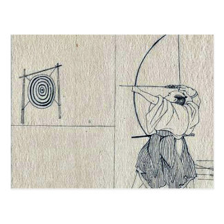 Minamoto, welches die Spinne durch Utagawa, Postkarte