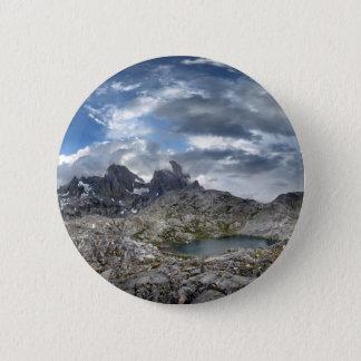 Minarett-Panorama über Nydiver Seen - Sierra Runder Button 5,1 Cm