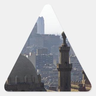 Minarette Ausblick von Sultan-Ali-Moschee Kairo Dreieckiger Aufkleber