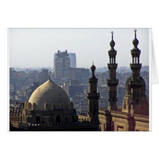 Minarette Ausblick von Sultan-Ali-Moschee Kairo Karte