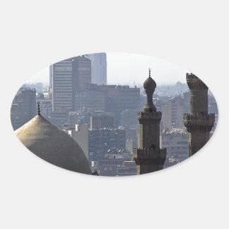 Minarette Ausblick von Sultan-Ali-Moschee Kairo Ovaler Aufkleber