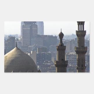 Minarette Ausblick von Sultan-Ali-Moschee Kairo Rechteckiger Aufkleber