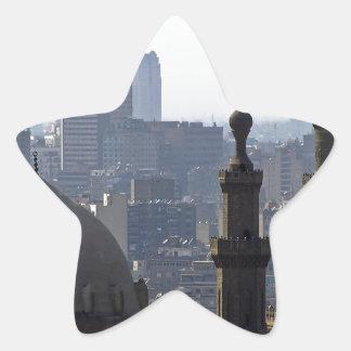 Minarette Ausblick von Sultan-Ali-Moschee Kairo Stern-Aufkleber