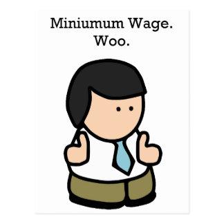 Mindestlohn-Arbeitskraft Postkarten