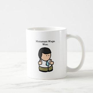 Mindestlohn-Arbeitskraft Kaffeetasse