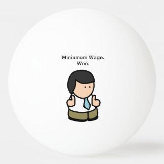 Mindestlohn flehen lustigen Angestellt-Cartoon an Tischtennis Ball