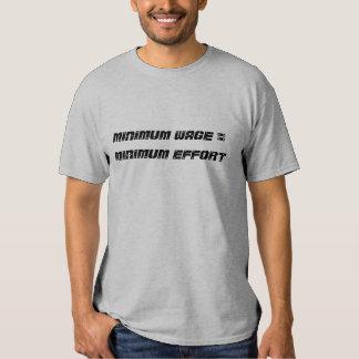 Mindestlohn = minimale Bemühung - besonders Shirt