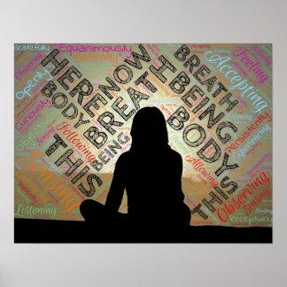 MINDFULNESS Plakat-Meditations-Atem-Stille Poster