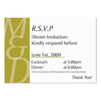 Mindys Abendessen-Karte Mini-Visitenkarten