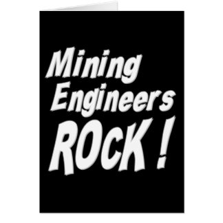 Mineningenieur-Felsen! Gruß-Karte Karte