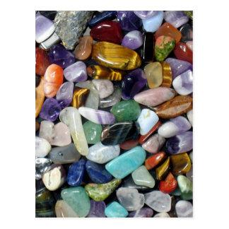 Mineralsteine Postkarte
