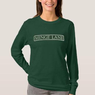 Minge Weg, Straßenschild, Worcestershire, T-Shirt