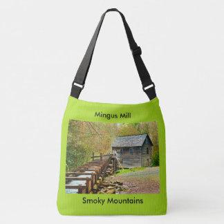 Mingus Mühle, Great Smoky Mountains-Reise-Bild Tragetaschen Mit Langen Trägern