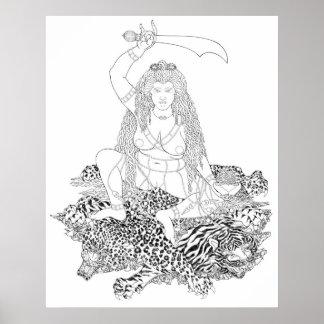 Min'gyür Pema Wangmo Linie Zeichnen [Plakat] Poster