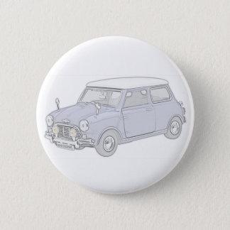 Mini Cooper Vintag-farbig Runder Button 5,7 Cm