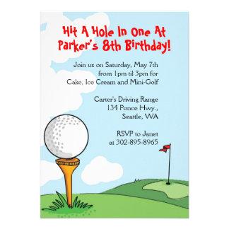 Mini-Golf themed Geburtstags-Party Einladungen