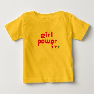 Mini ich Retro Mädchen-Power Baby T-shirt