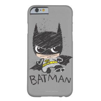 Mini klassische Batman-Skizze Barely There iPhone 6 Hülle