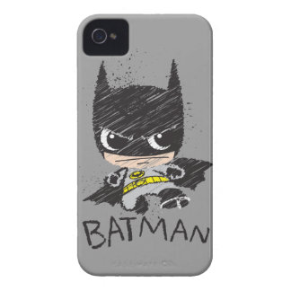 Mini klassische Batman-Skizze iPhone 4 Hüllen