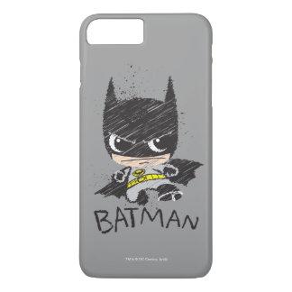 Mini klassische Batman-Skizze iPhone 8 Plus/7 Plus Hülle