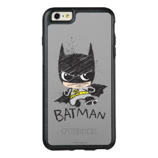 Mini klassische Batman-Skizze OtterBox iPhone 6/6s Plus Hülle