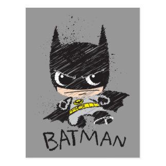 Mini klassische Batman-Skizze Postkarte
