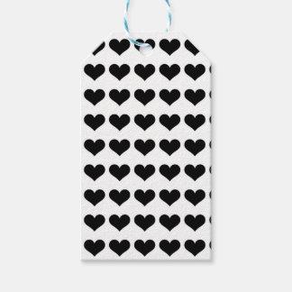 Mini schwarze Umbauten der Herz-| Geschenkanhänger