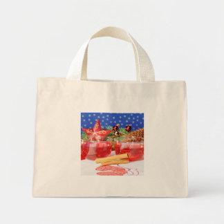 Mini-Tragetasche frohe Weihnachten Mini Stoffbeutel