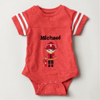 Mini zukünftiger Feuerwehrmann-Säuglings-T - Shirt