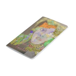 Minianmerkungen - Blumen-Mädchen-abstrakter Taschennotizbuch