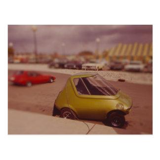 Miniatur des elektrischen Auto-1973 Postkarte