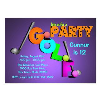 Miniaturgolf-Party 12,7 X 17,8 Cm Einladungskarte