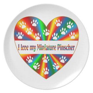 Miniaturpinscher-Liebe Melaminteller