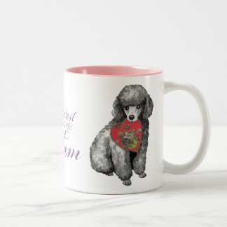 Miniaturpudel-Herz-Mamma Zweifarbige Tasse