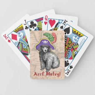 Miniaturpudel-Pirat Bicycle Spielkarten