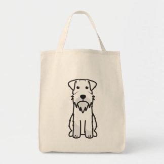 Miniaturschnauzer-HundeCartoon Einkaufstasche