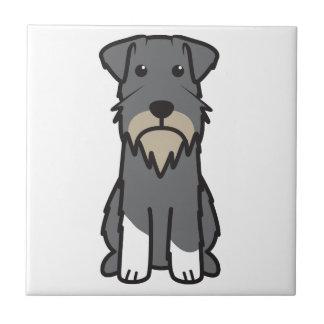 Miniaturschnauzer-HundeCartoon Keramikfliese