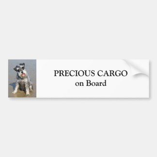 Miniaturschnauzer-Hundeniedliche Fotogewohnheit Autoaufkleber