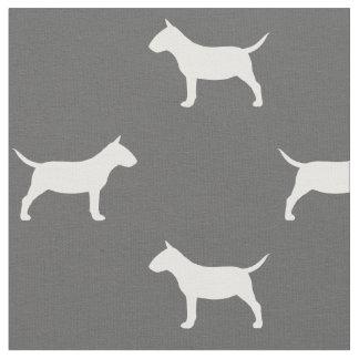 Miniaturstier-Terrier-Silhouette-Muster Stoff