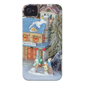 Miniaturweihnachtsdorf iPhone 4 Cover