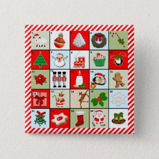 Miniaturweihnachtseinführungskalender Quadratischer Button 5,1 Cm