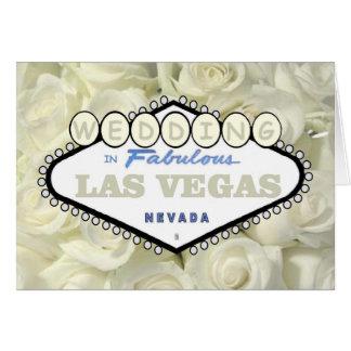 Minibaby-Atem-Rosen, die in Las- Vegaskarte Grußkarte