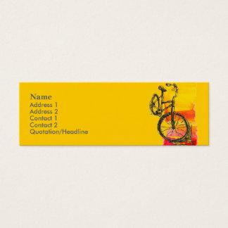 Minicard Fahrrad-Visitenkarte Mini Visitenkarte