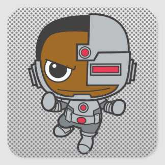 MiniCyborg Quadratischer Aufkleber