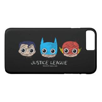 Minigerechtigkeits-Liga geht Skizze voran iPhone 8 Plus/7 Plus Hülle