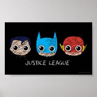 Minigerechtigkeits-Liga geht Skizze voran Poster