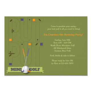 Minigolf-Einladung 12,7 X 17,8 Cm Einladungskarte