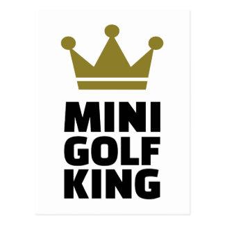 Minigolf König Postkarte