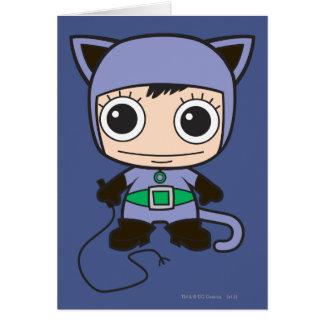Minikatzen-Frau Karte